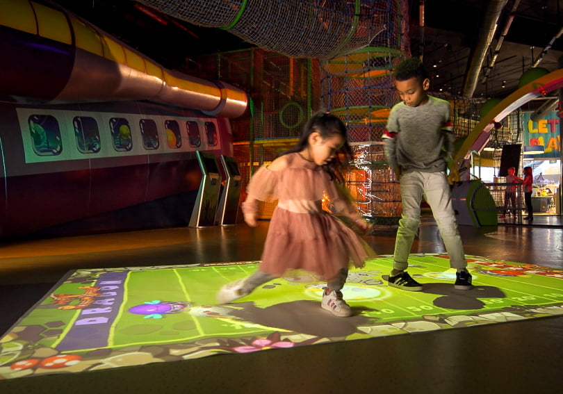 Kids at Jumping Beans Play Cafe enjoy BEAM